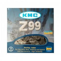 Велосипедная цепь KMC Z99 116 звеньев с замком на 9 скоростей