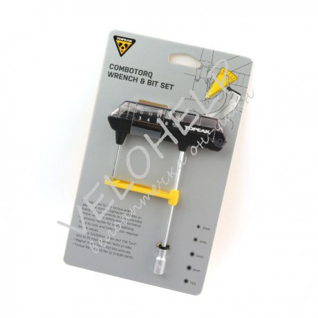 Динамометрический ключ для велосипеда Topeak ComboTorq