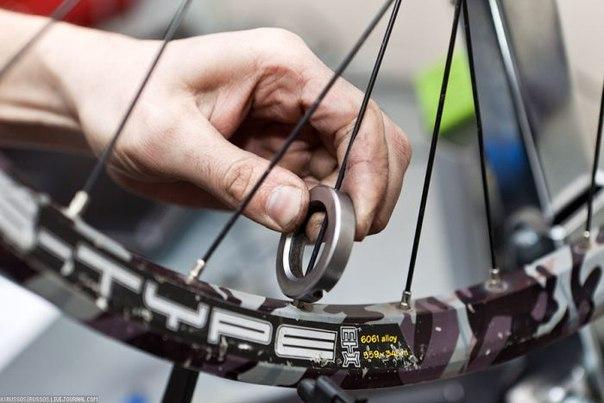 Источник скрипа колеса велосипеда